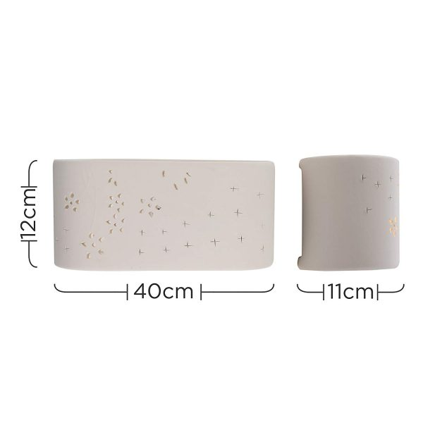 MiniSun-Modern-Planter-Style-Curved-White-Ceramic-Wall-Light-with-Flower-Cut-Out-Design-16285-Dimensions-1