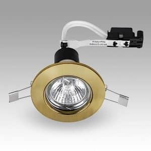MiniSun-Steel-Fixed-GU10-Downlight-NO-BULB-Antique-Brass-18896-01