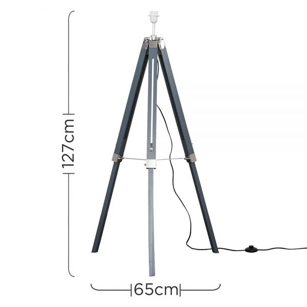 MiniSun-Clipper-Grey-Chrome-Tripod-Floor-Lamp-Base-Only-24188-Dimensions