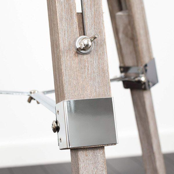 MiniSun-Clipper-Light-Wood-Chrome-Tripod-Floor-Lamp-Base-Only-23111-Additional