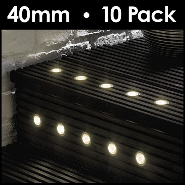 MiniSun-Pack-of-10-40mm-LED-Round-Garden-Decking-Kitchen-Plinth-Lights-Kit-Warm-White-IP67-18924-Energy